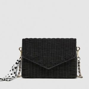 Zara Raffia Cross - Body Bag